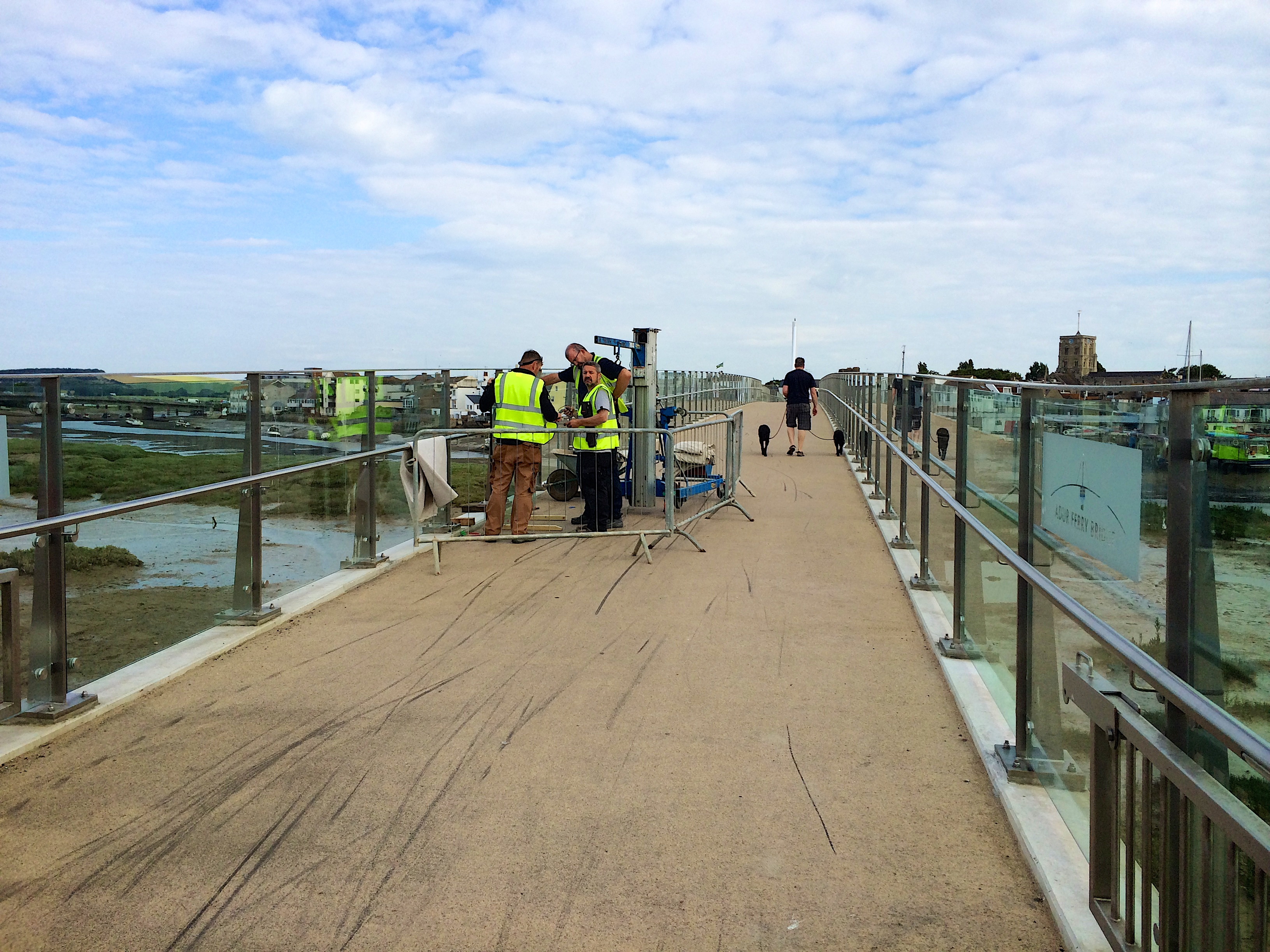 Repairing the Adur Ferry Bridge